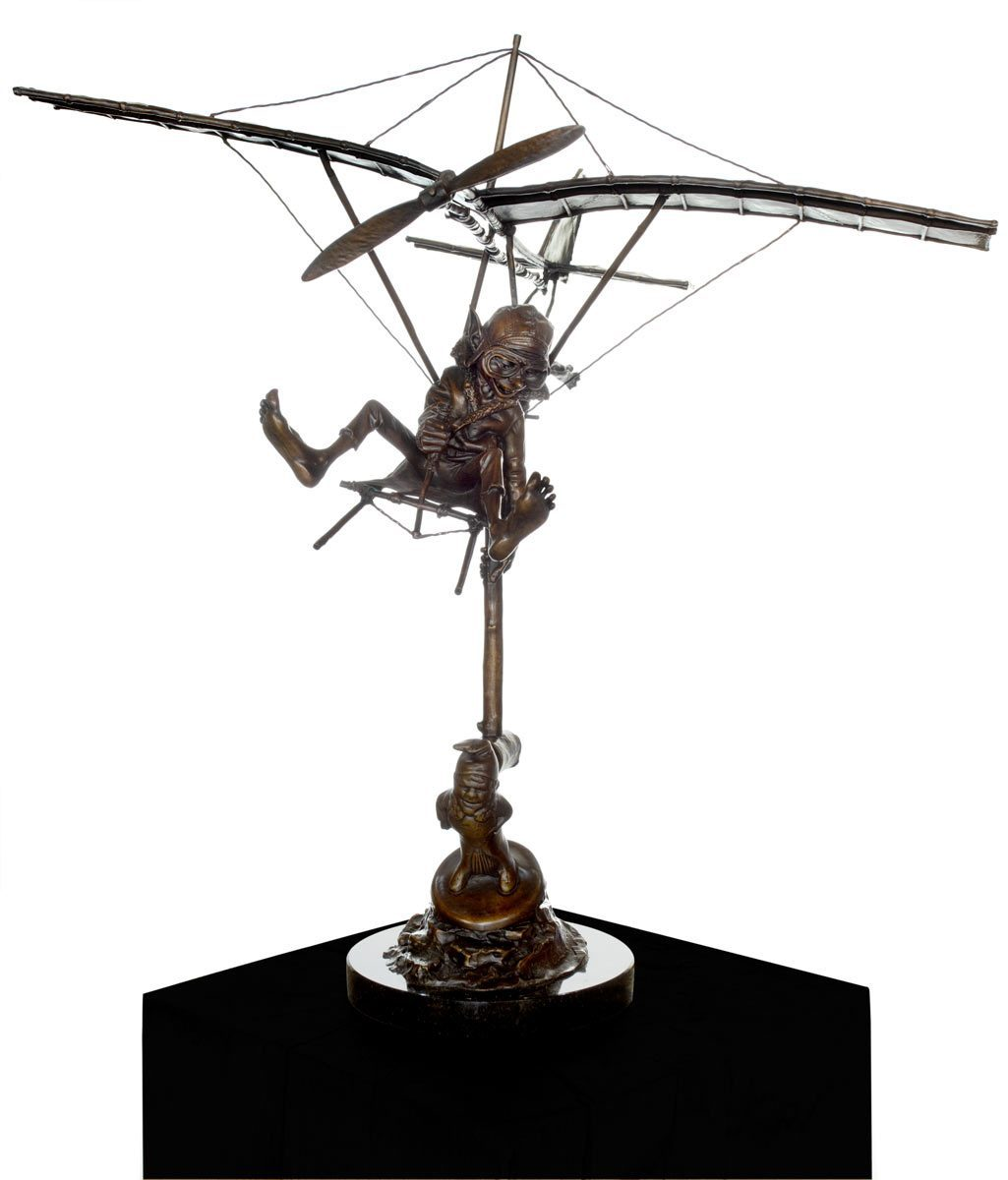 The Aviator - Limited Edition Sculpture Davide Goode Loose