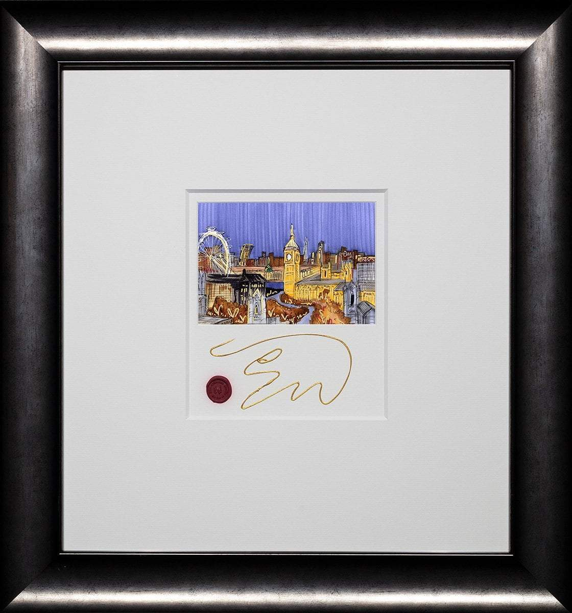 A Rooftop View - Original Edward Waite Framed