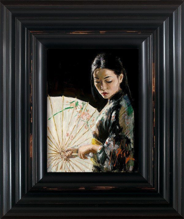 Michiko with White Umbrella Fabian Perez