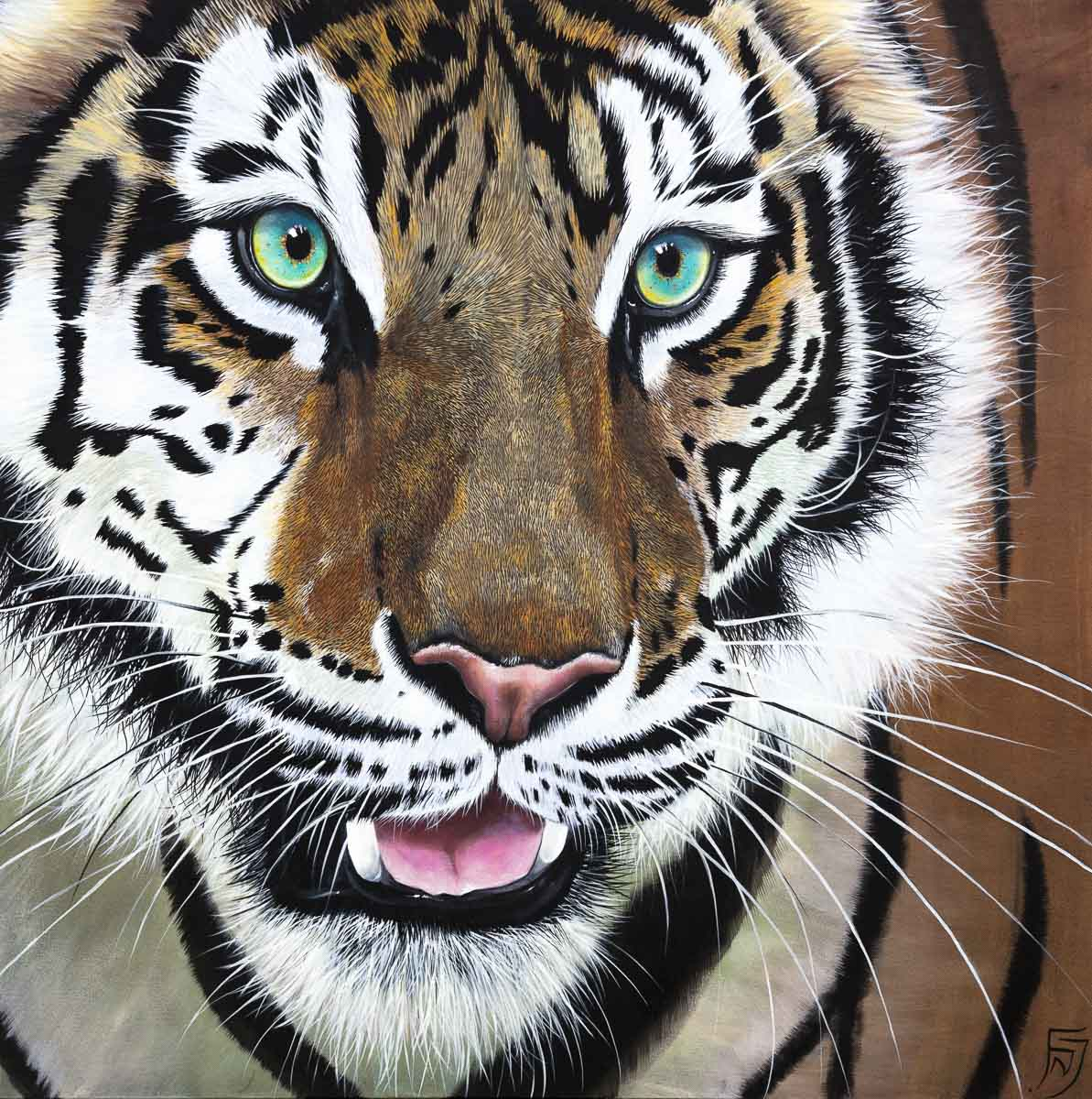 Tiger Kaito - Original Faye Nasser Joley Framed