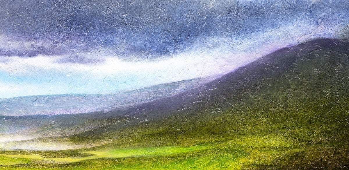 Grey Clouds Over the Green Valley - Original Hamish Herd Framed