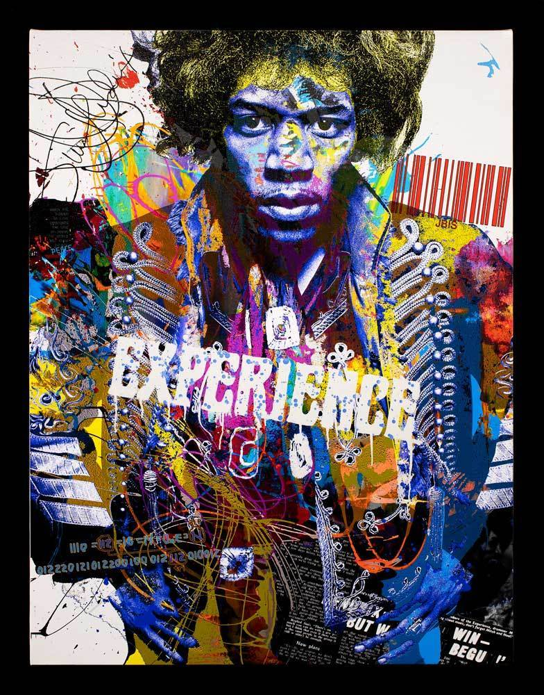 Jimi - Limited Edition Jeffrey Bisaillon Framed