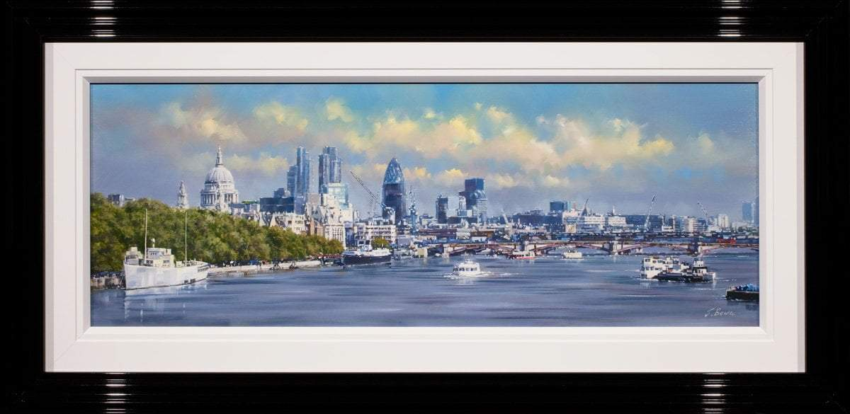 By The Thames - Original Joe Bowen Framed