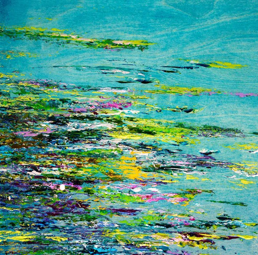 The Turquoise Pond - Original Kate Taylor Loose