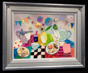 Afternoon Tea In Giggleswick - Original Kerry Darlington