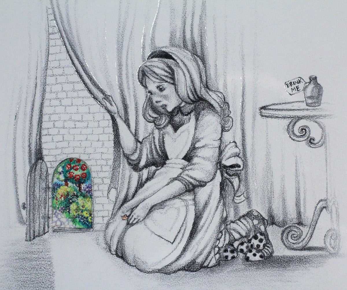 Alice and the Little Door (sketch) - SOLD OUT Kerry Darlington