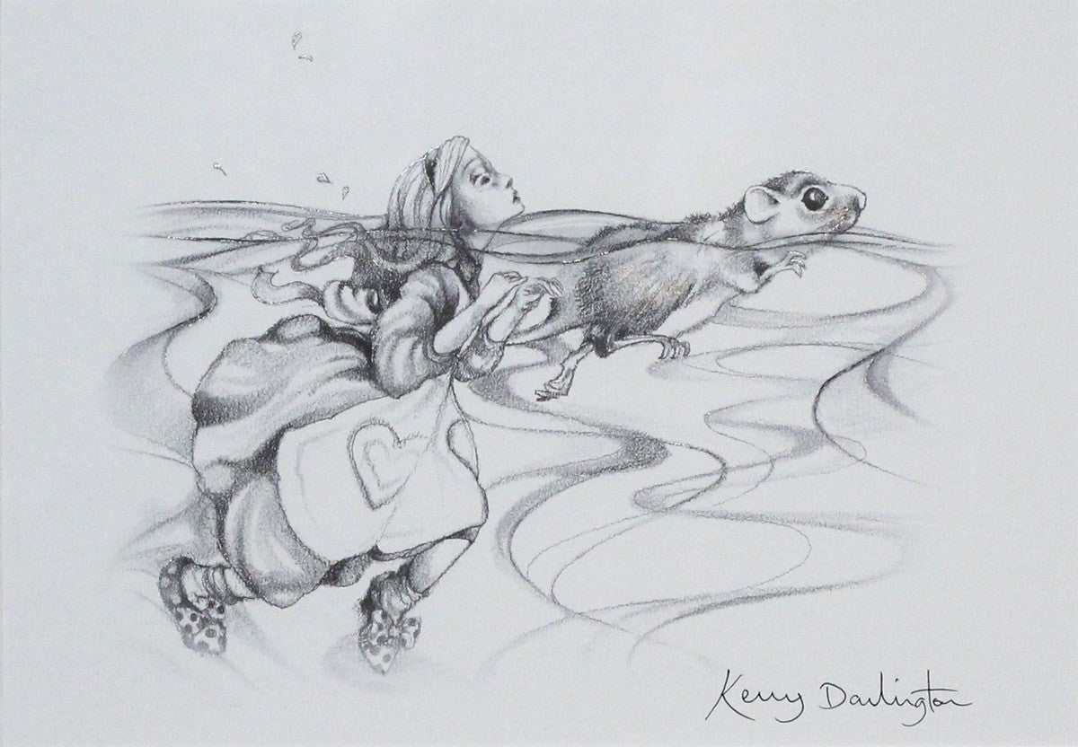 Alice and the Pool of Tears (sketch) - SOLD OUT Kerry Darlington