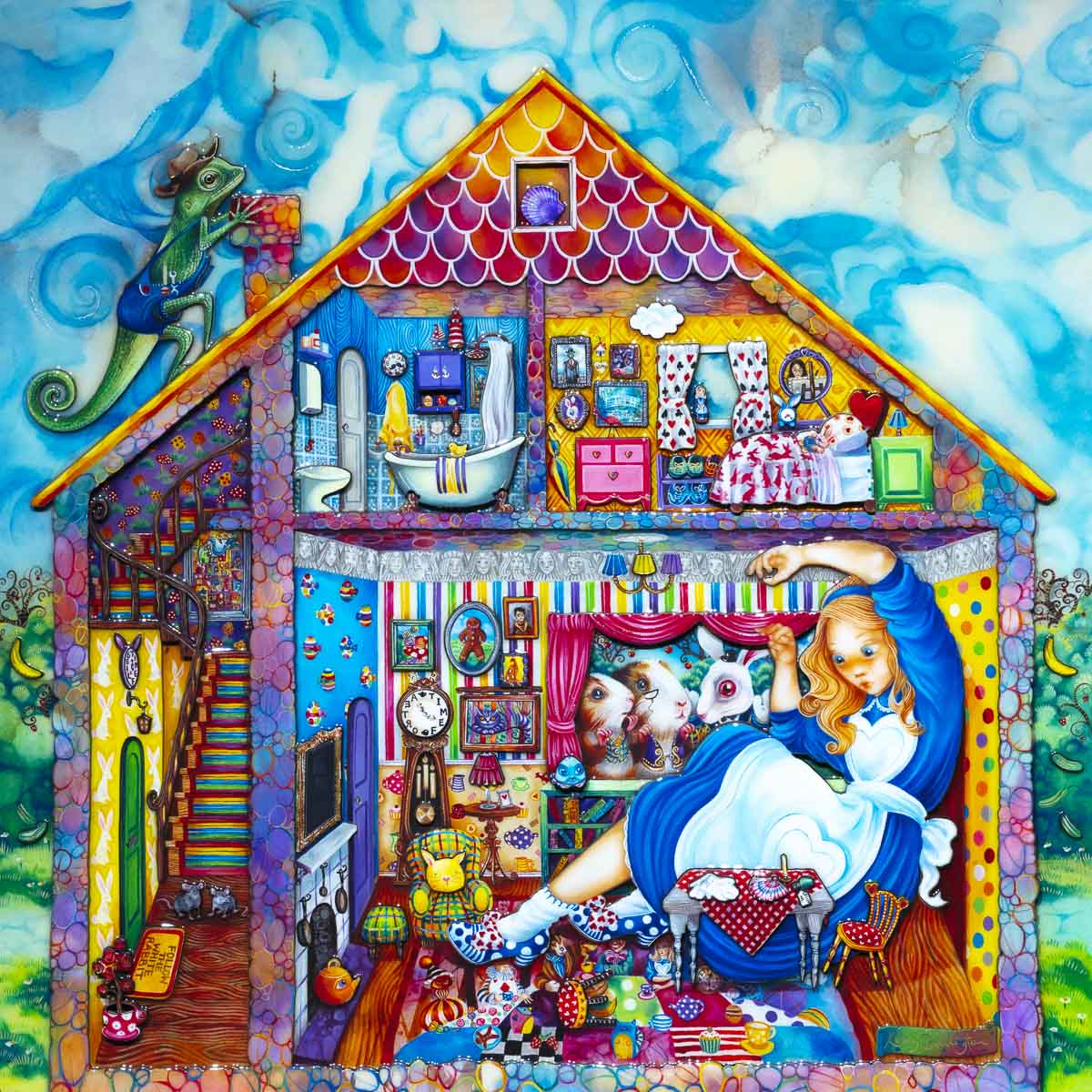 Alice in William Rabbits House - Rare Edition Kerry Darlington