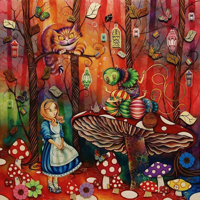 Alice Meets the Caterpillar - SOLD OUT Kerry Darlington