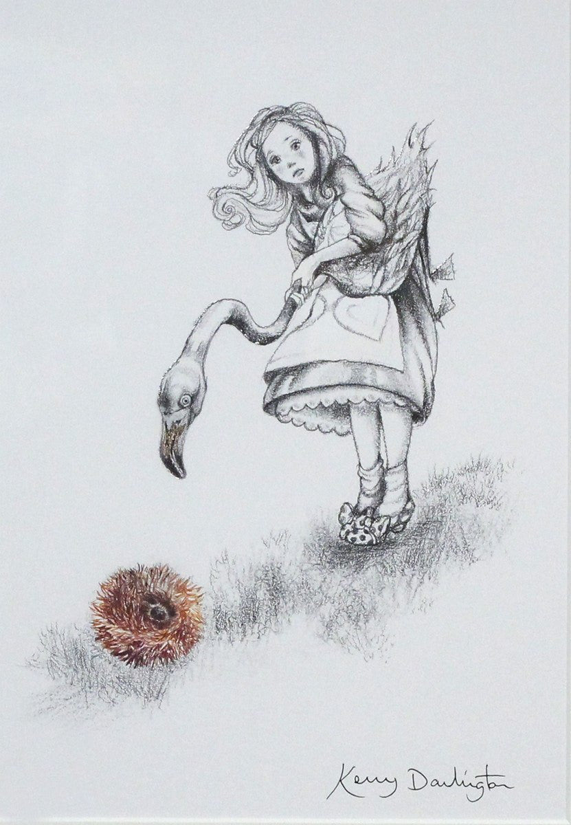 Alice Plays Croquet (sketch) - SOLD Kerry Darlington