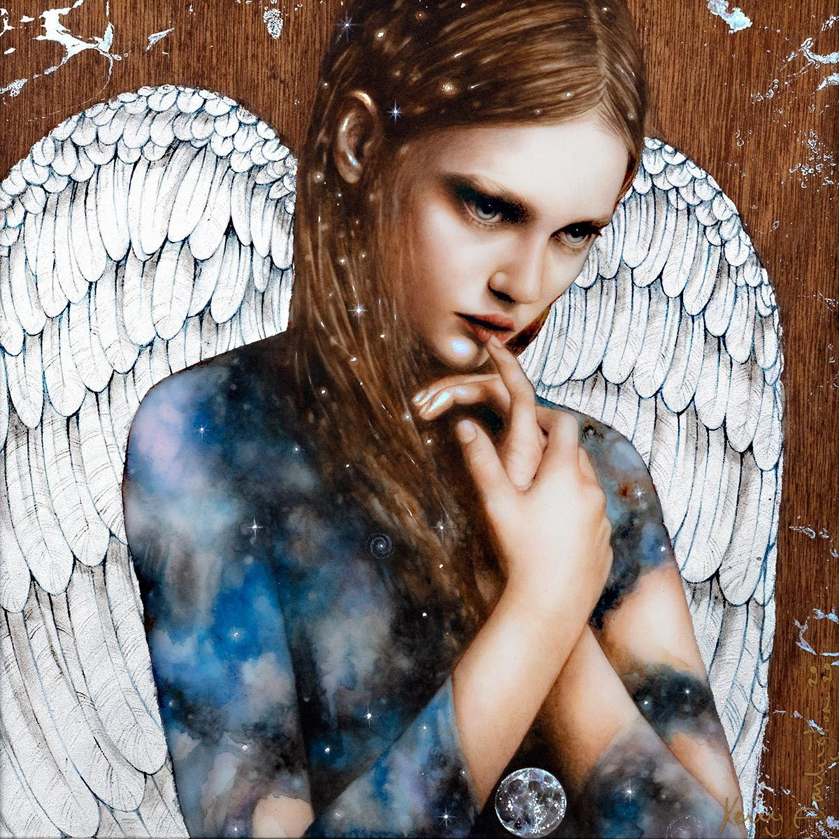 Cosmic Angel - Original Kerry Darlington Framed