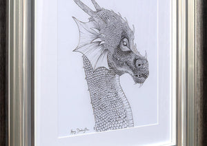 Dragon of the Underworld  - Sketch Kerry Darlington Framed