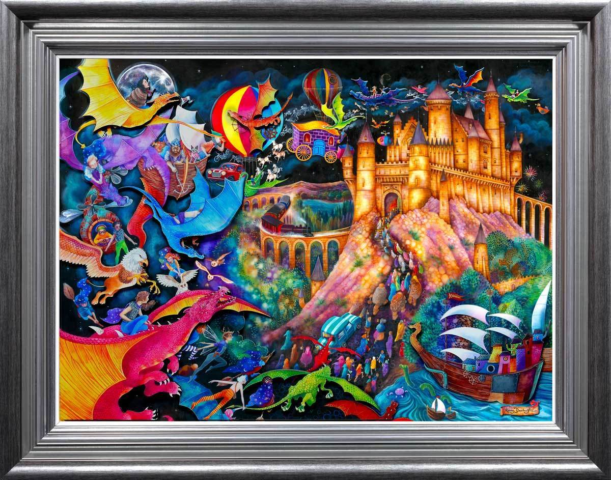 Flight of the Dragons - Available Now Kerry Darlington Edition Number 49 / Silver / Blue