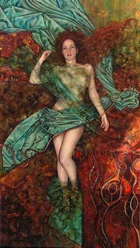 Lady of the Lake (Gwannag Annwn) - ORIGINAL - SOLD Kerry Darlington