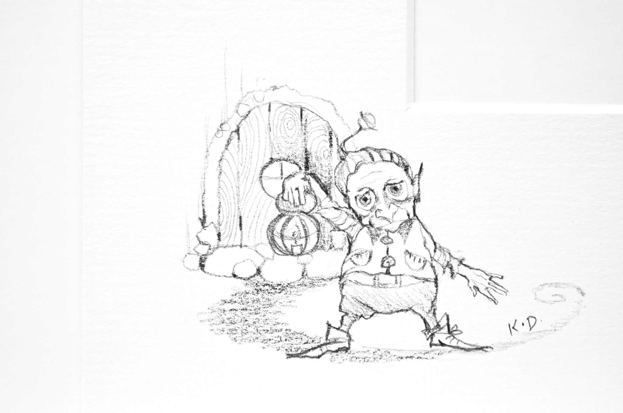 Little Tree Spirit - Rare Remarque Edition Kerry Darlington Goblin - Edition 12
