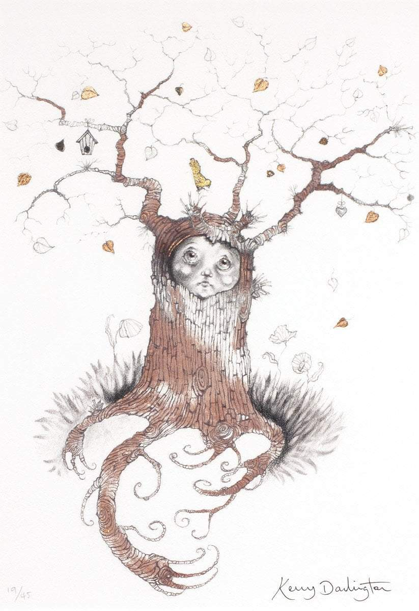 Little Tree Spirit - Rare Remarque Edition Kerry Darlington Fairy Lantern - Edition 14