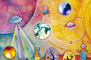 Lollipop Galaxy - Original - SOLD