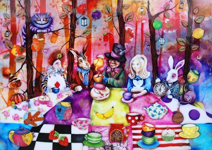 Mad Hatters Tea Party Kerry Darlington Wyecliffe Original Art