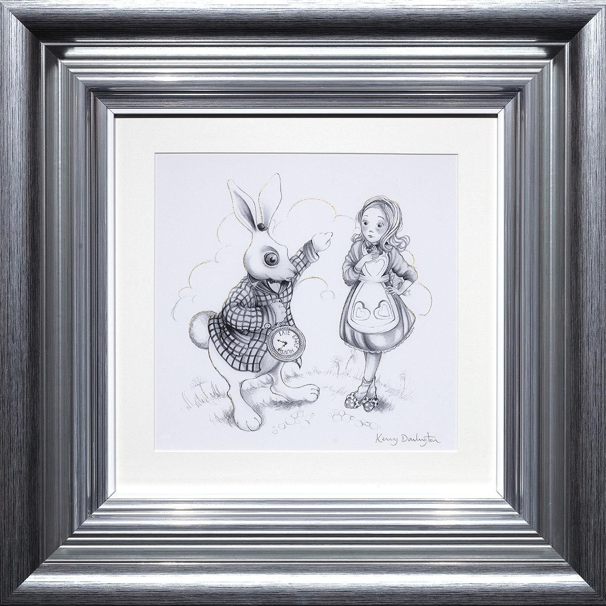 Oh My Fur and Whiskers & We're All Mad Here - Matching Sketch Edition Set Kerry Darlington
