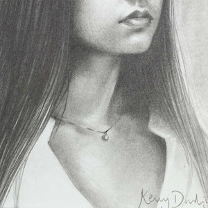 Ophelia - Sketch 2020 - Original Kerry Darlington Framed