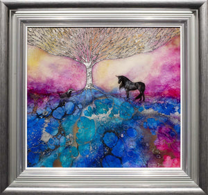 Peaceful Warrior - Original Kerry Darlington Framed