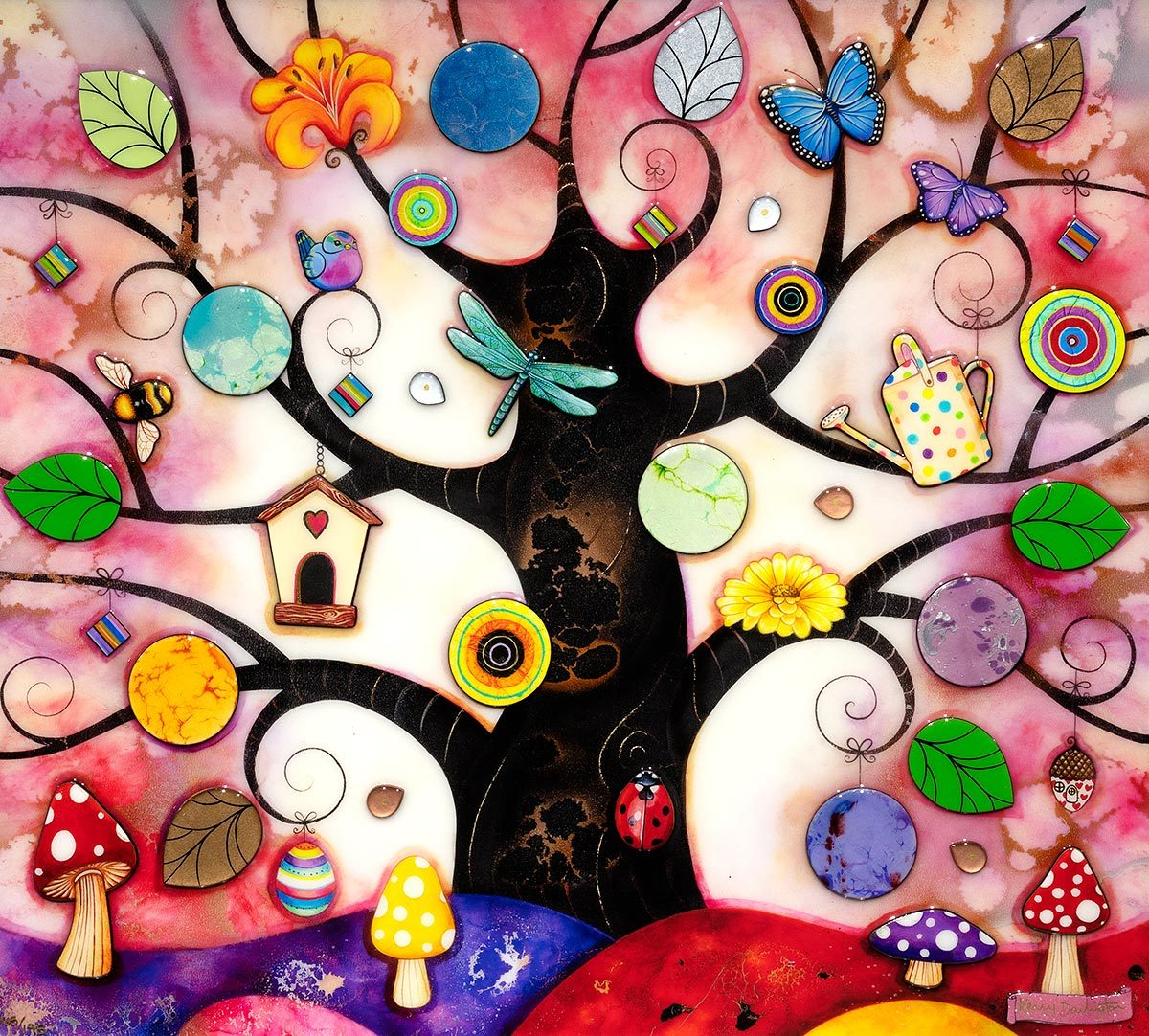 Pink Tree of Charms - Edition Kerry Darlington