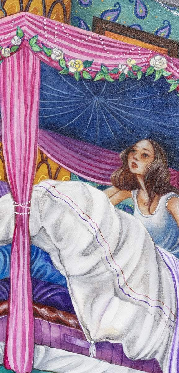 Princess and the Pea - Original Kerry Darlington ORIGINAL / Silver/Blue
