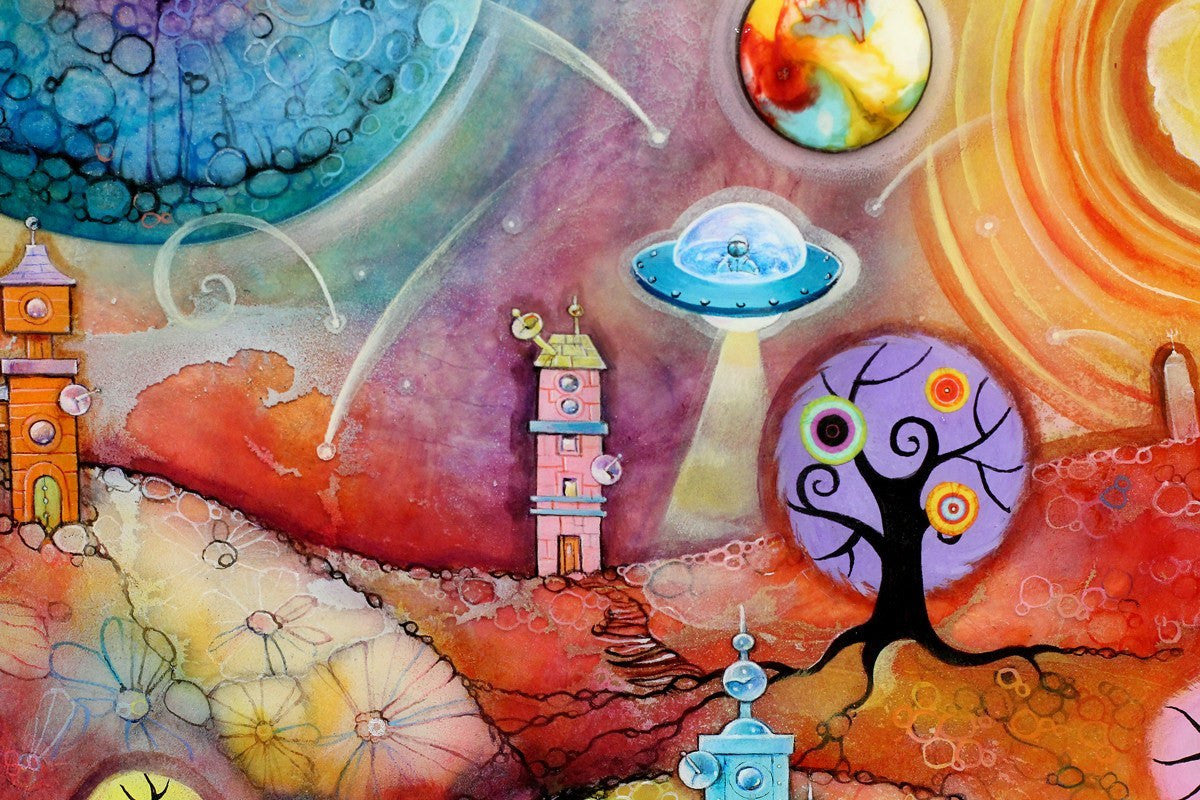 Space Travel - ORIGINAL - SOLD Kerry Darlington