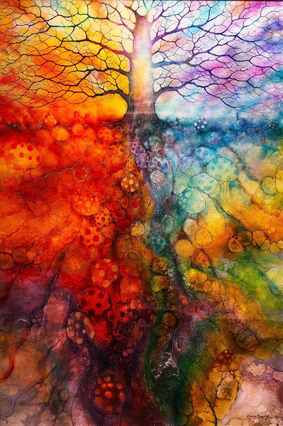 Wiccan Tree - ORIGINAL - SOLD Kerry Darlington
