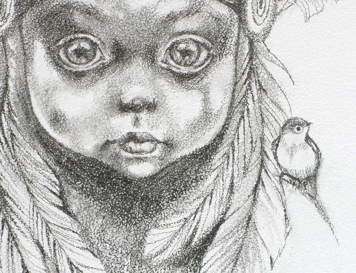 Young Tiger Lily (Peter Pan) Sketch - SOLD Kerry Darlington