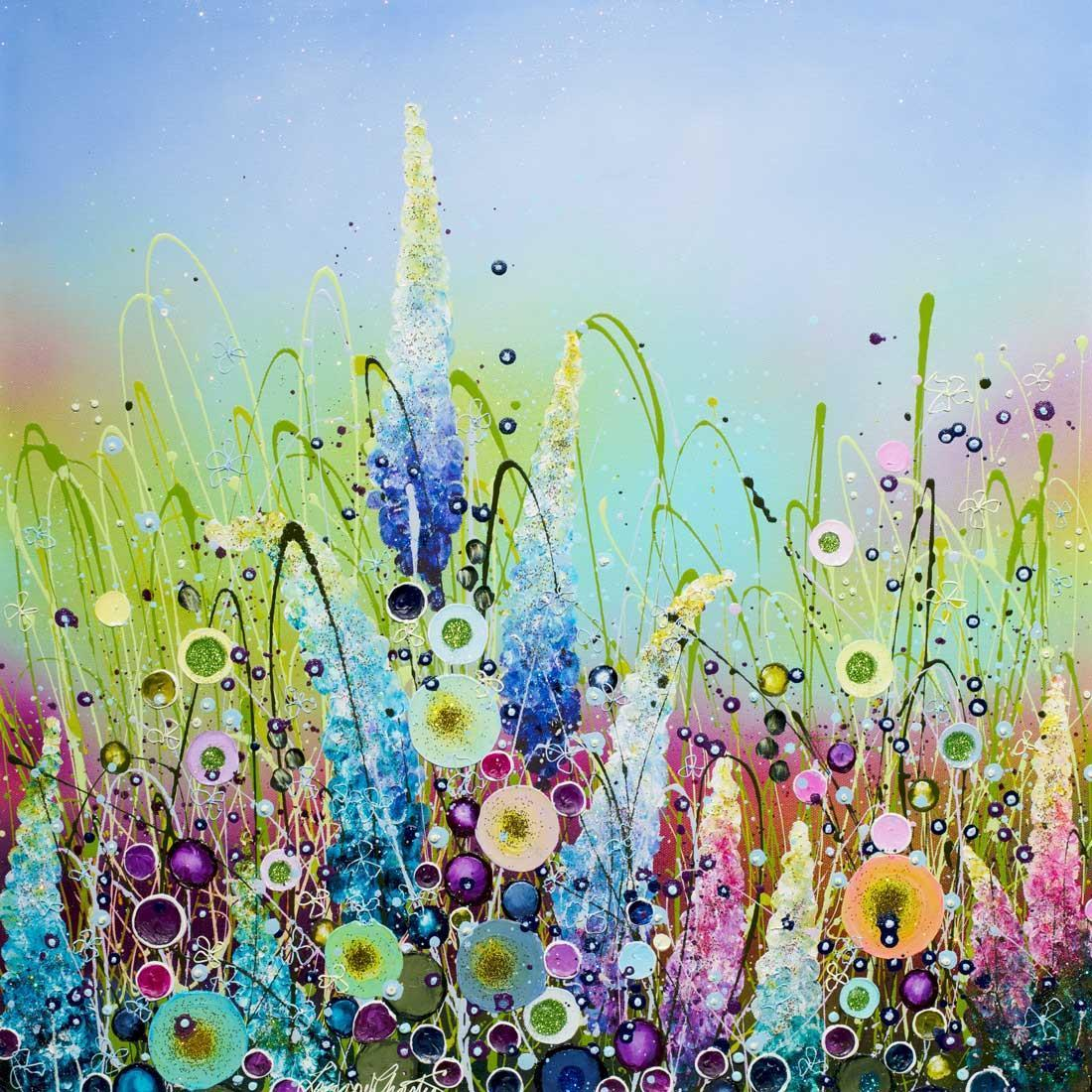 Embellished Wild Flowers - Original Leanne Christie