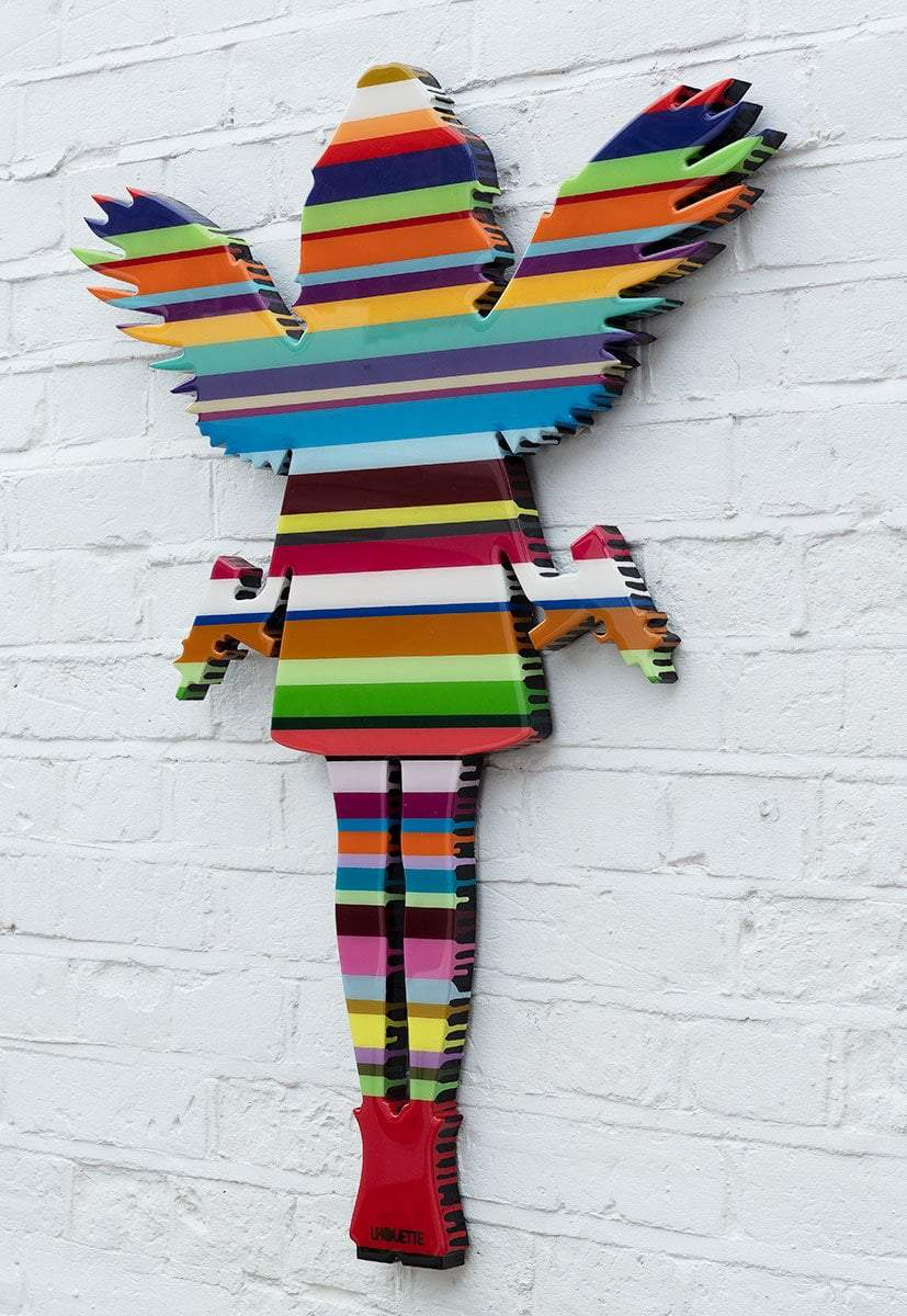 Angel Cake Striped Sculpture- Original Lhouette Original