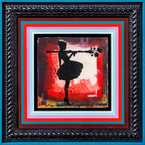 Bazooka Jo Floral Mixer (Royal Red) - Original Lhouette Framed