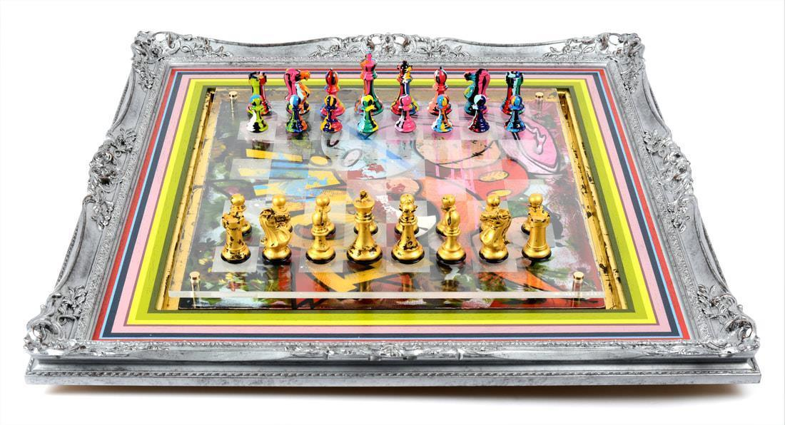 Bespoke Chess Set - Purling Lhouette Framed