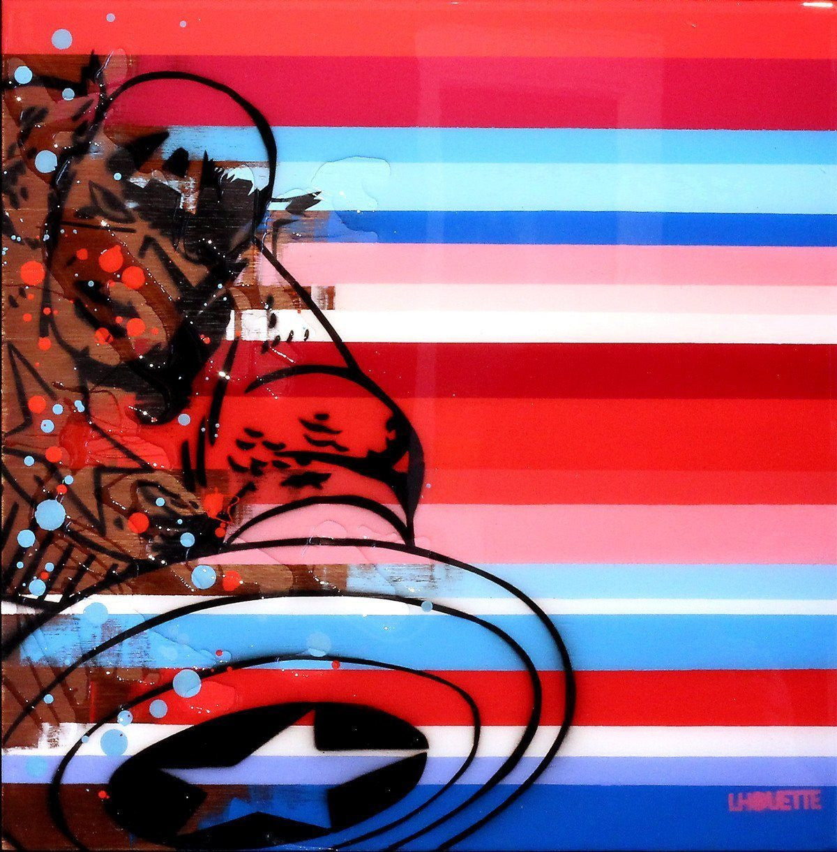 Colour Crate - Captain America - SOLD Lhouette