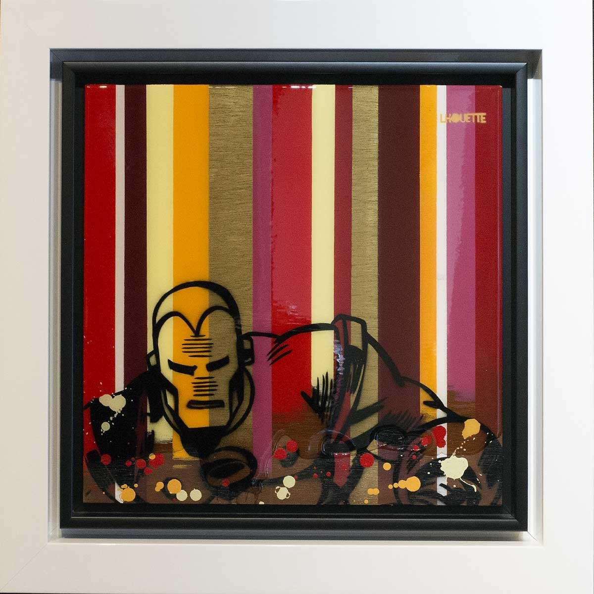 Colour Crate - Iron Man - ORIGINAL - SOLD Lhouette