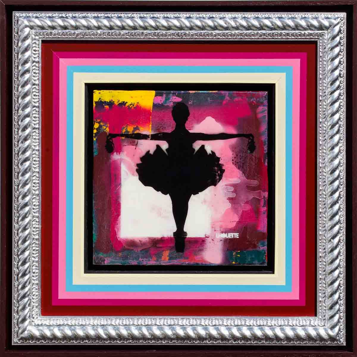 Drop The Bomb Mixer (Cherry Blossom) - Original Lhouette Framed