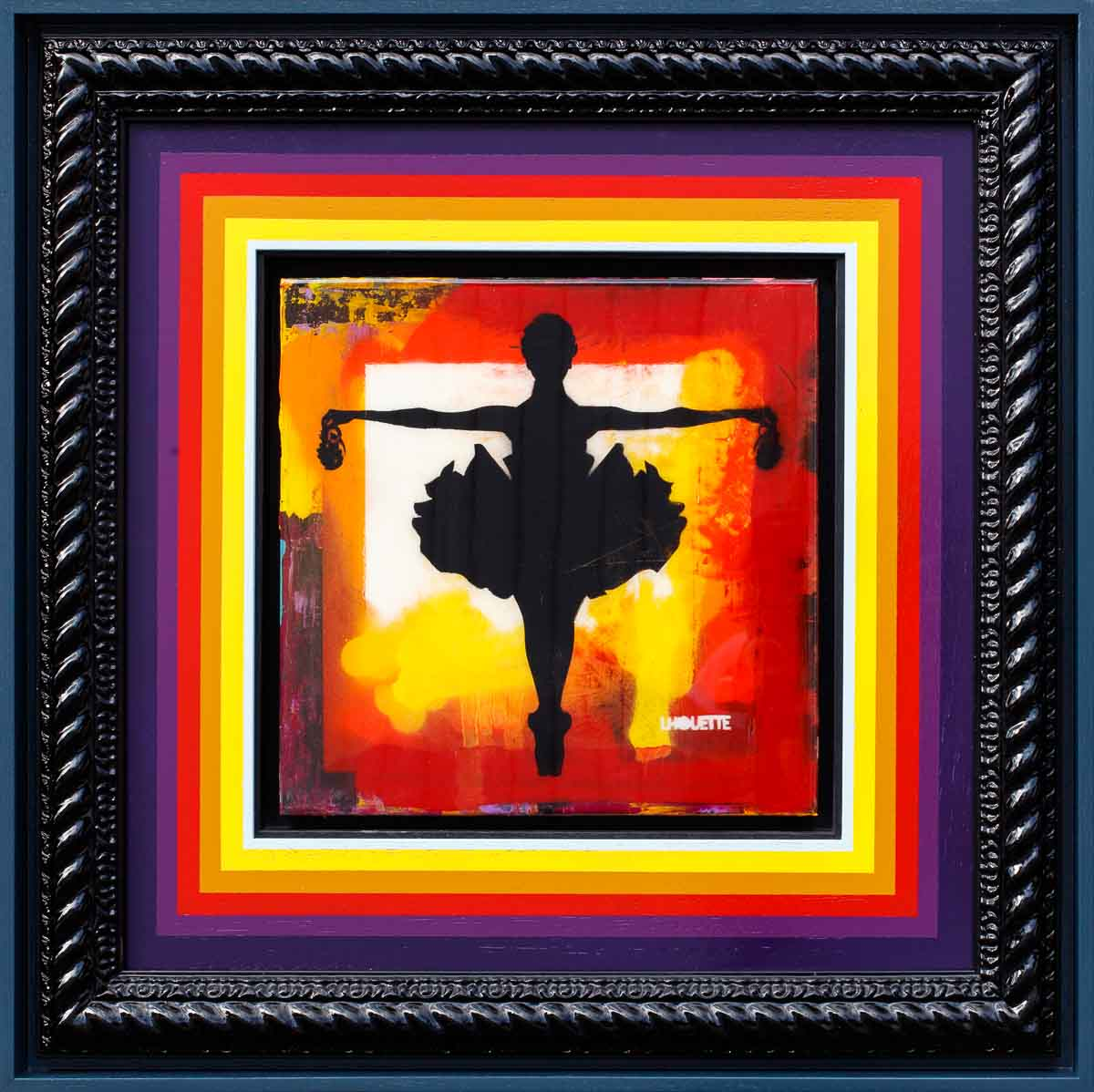 Drop The Bomb Mixer (Pure Orange) - Original Lhouette Framed