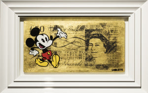 Gold Sterling Mickey Mouse - SOLD Lhouette
