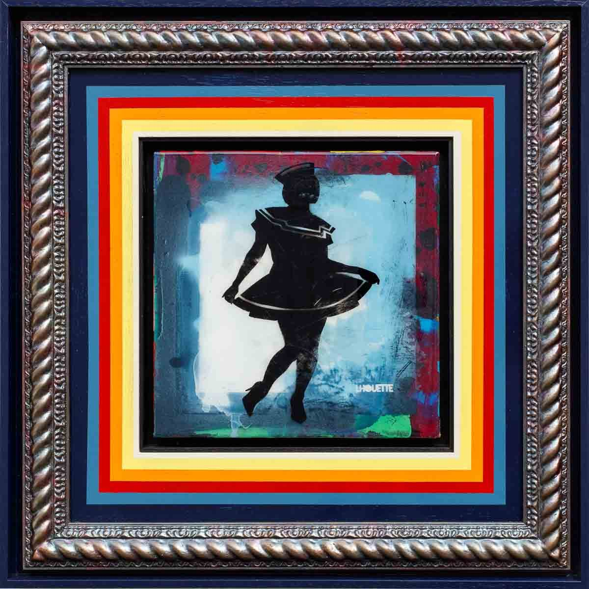 Hello Sailor Mixer (Fresh Blue) - Original Lhouette Framed