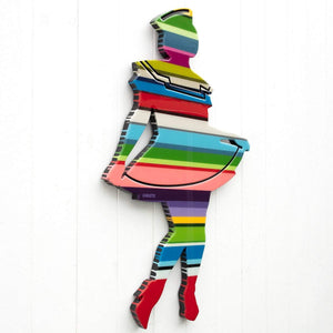 Hello Sailor - Striped Miniature ( Gloss Resin ) Original Wall Sculpture - SOLD