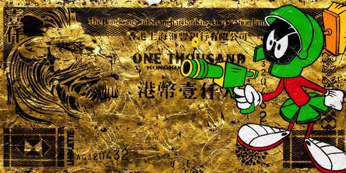 Hong Kong Dollar - Marvin the Martian Lhouette