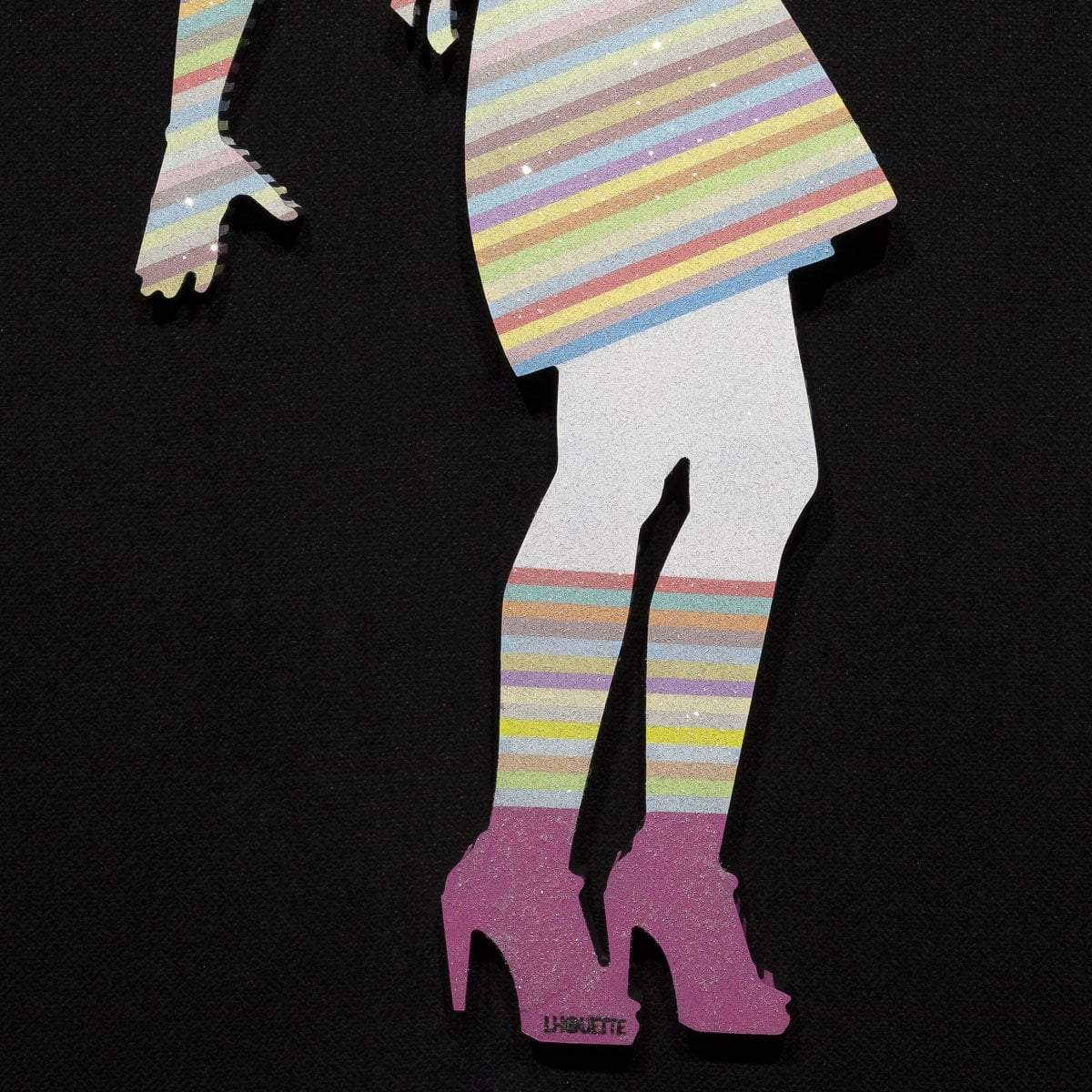 Little Miss Sunshine Miniature - Pastel - Original Wall Sculpture Lhouette Orignal