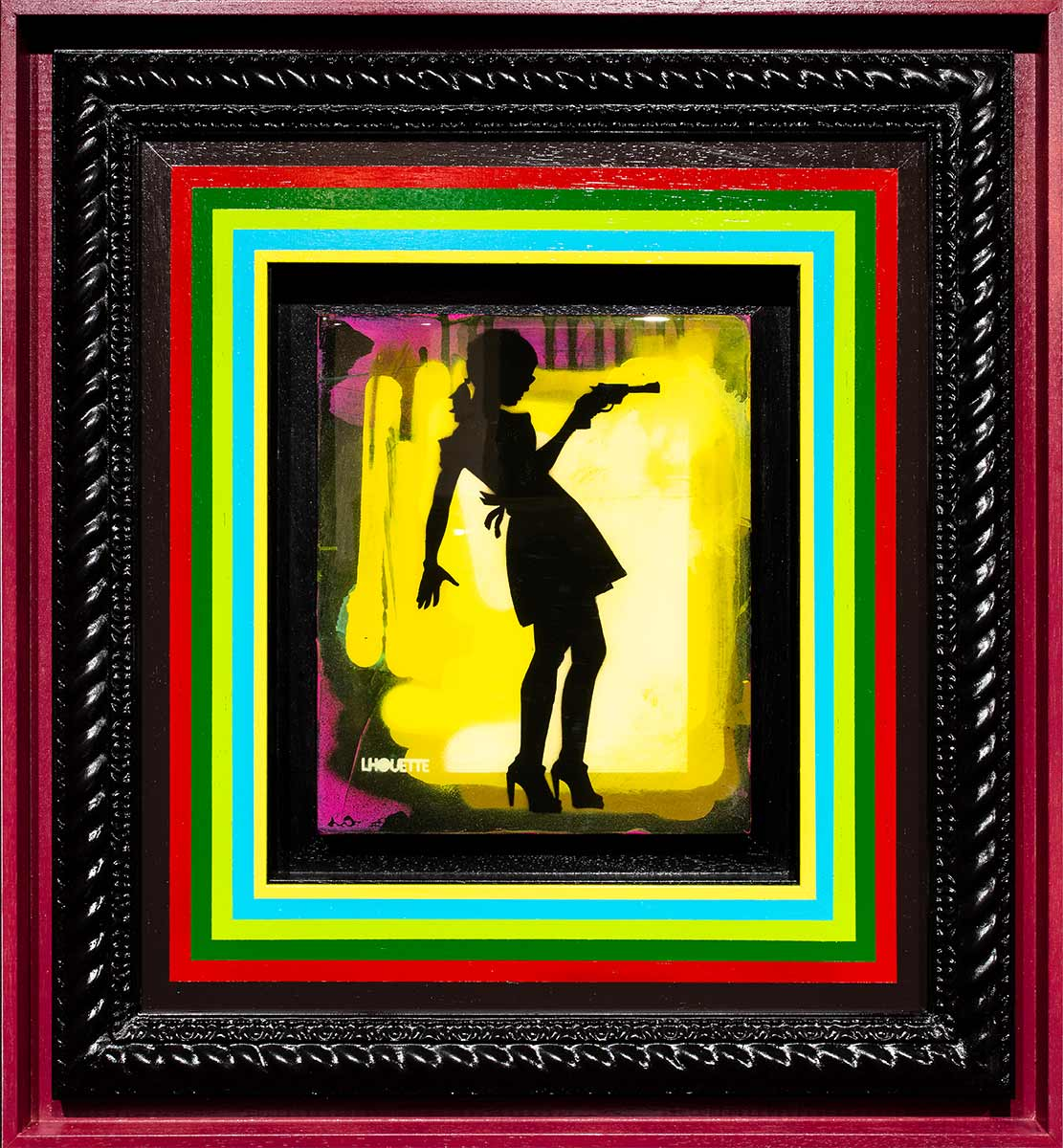 Little Miss Sunshine Mixer - Asia Yellow Lhouette Framed