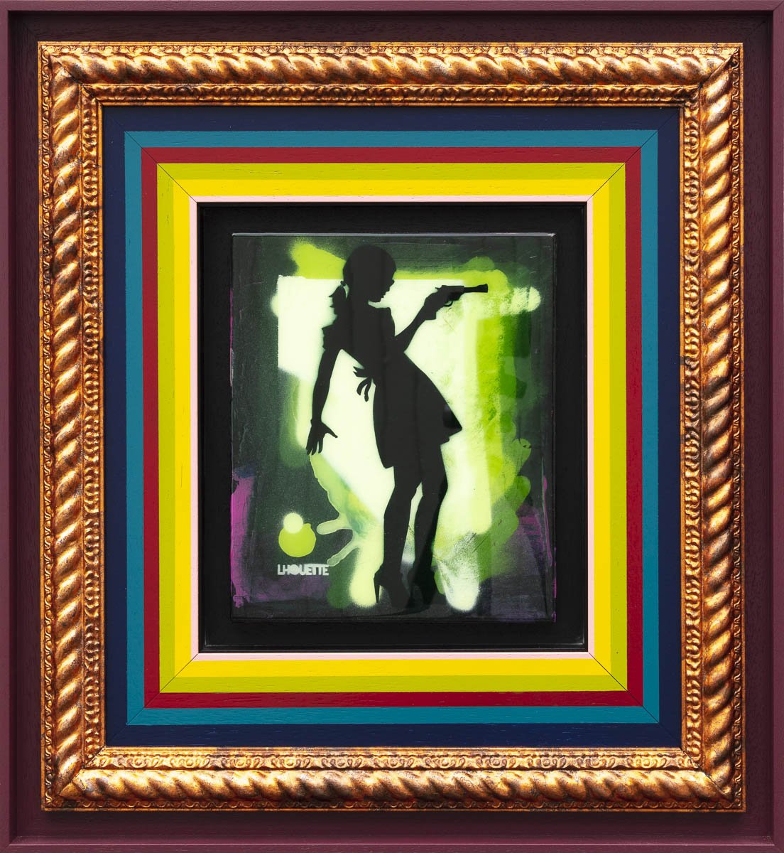 Little Miss Sunshine Mixer - Fern Green II Lhouette Framed