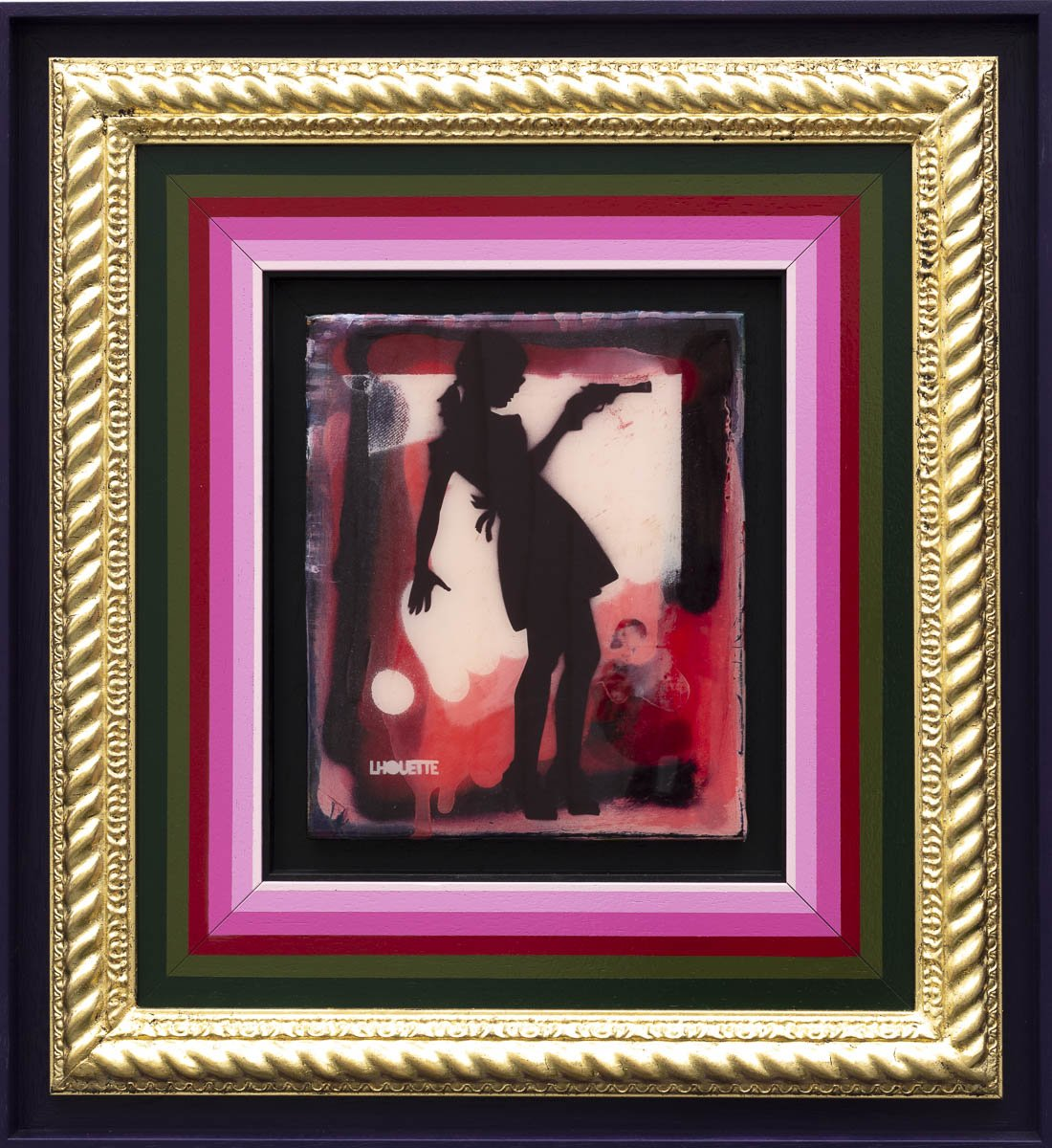 Little Miss Sunshine Mixer - Royal Red Lhouette Framed