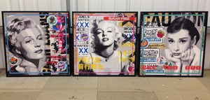 Paste Up - Marilyn - SOLD OUT Lhouette