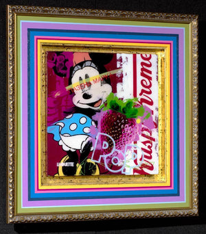 Pop Panel - Minnie Mouse Lhouette Framed