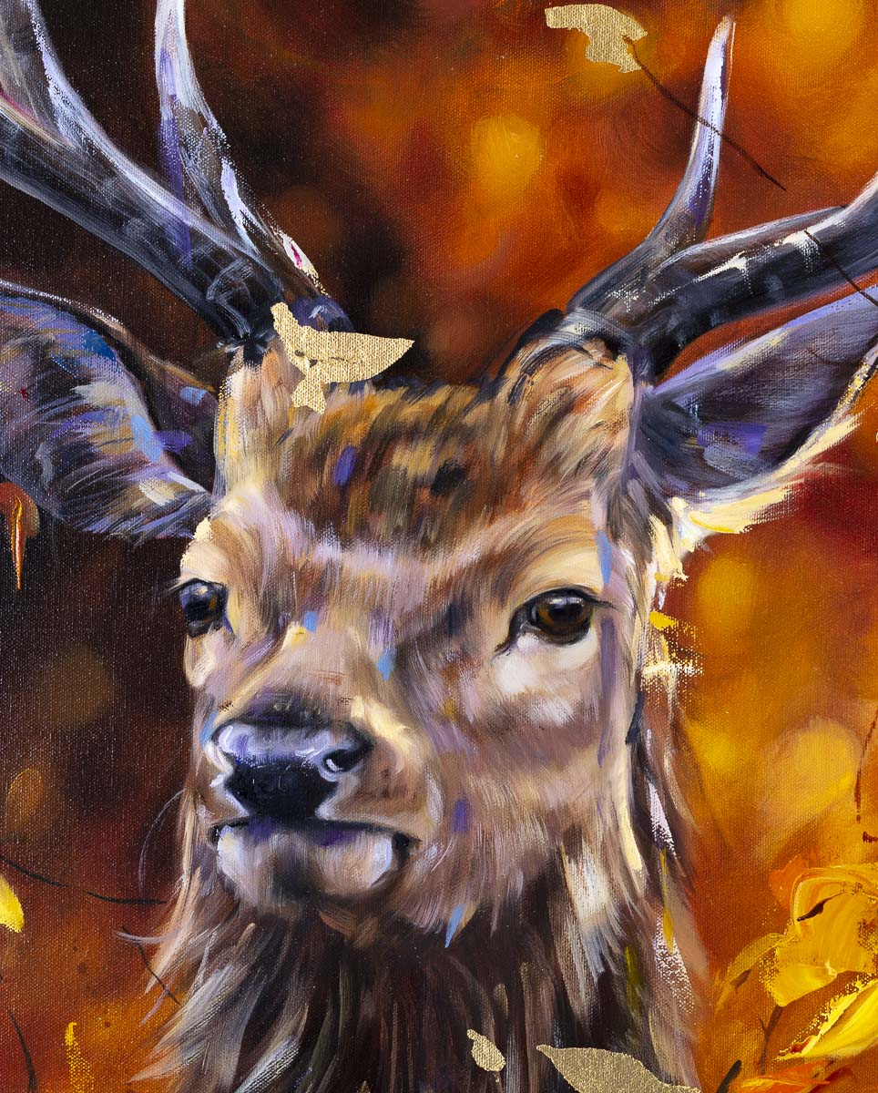 Autumn Stag - Original Lyndsey Selley Framed