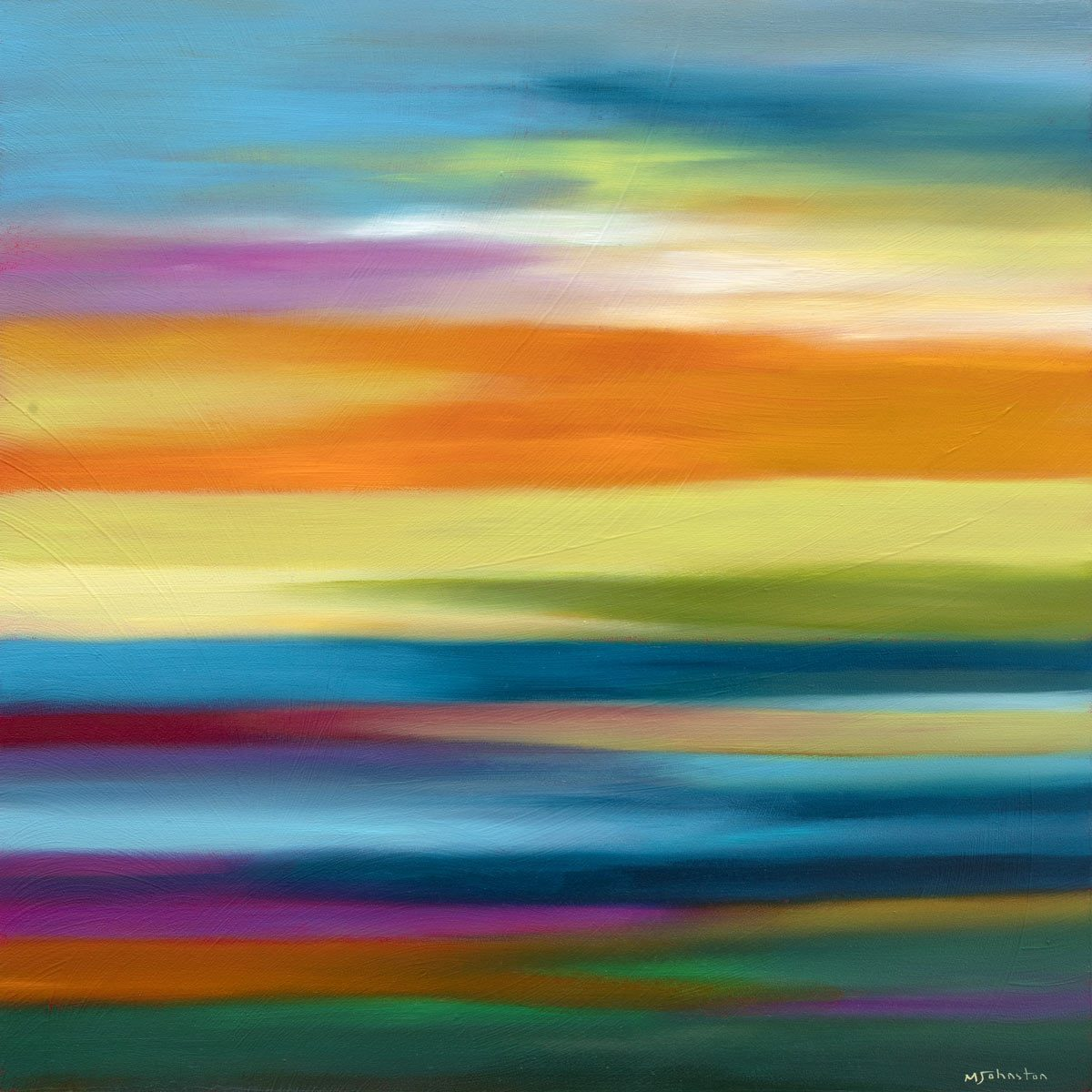A Sea of colour - Original Mary Johnston Original
